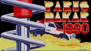 Paris Dakar 1990 gameplay (PC Game, 1990)