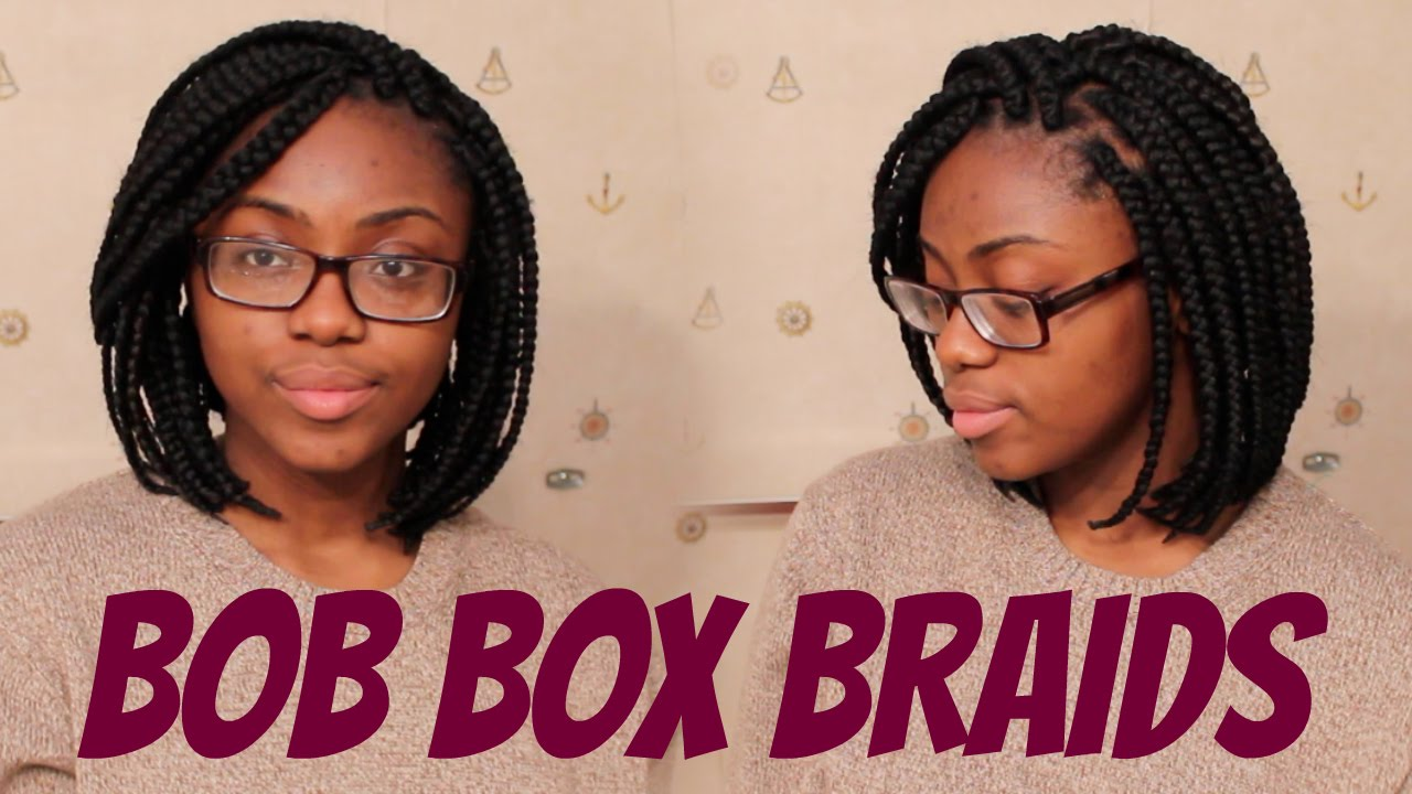 How To Bob Box Braids Tight Roots Youtube