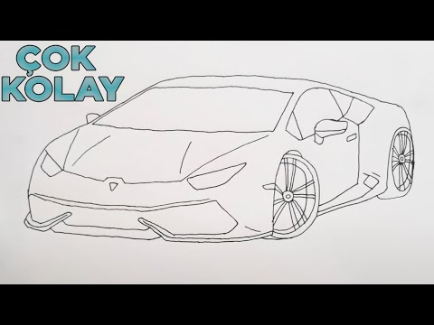 How To Draw A Lamborghini Gallardo Car Youtube