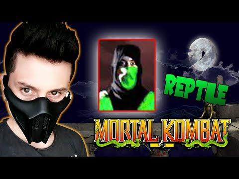 ENFRENTANDO A REPTILE! EL PRIMER PERSONAJE SECRETO DE MK!! - MORTAL KOMBAT 1