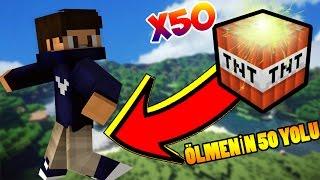 Minecraft ÖLMENİN 50 YOLU! (Patlayan Tavuk?)