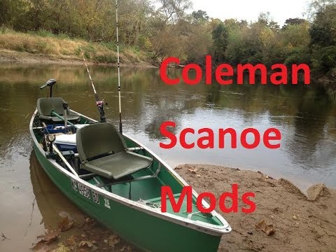 My coleman scanoe fishing setup modifications youtube for Fishing canoe setup