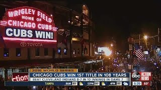 Chicago Cubs win first title in 108 years