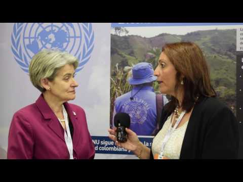 En Cumbre de Premios Nobel de Paz: Irina Bokova, Directora General de la UNESCO