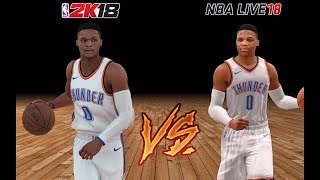 NBA 2k18 Vs NBA LIVE 18 ( Russell Westbrook )