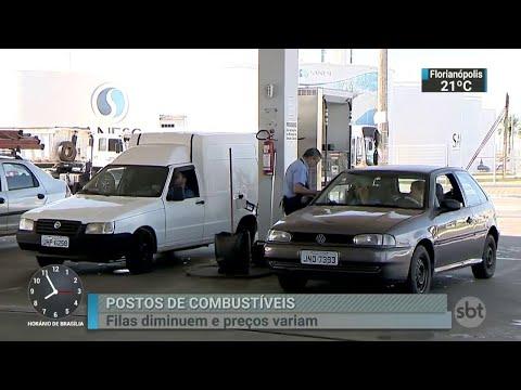 Filas não são mais vistas nos postos, mas preço oscila bastante | SBT Brasil (01/06/18)