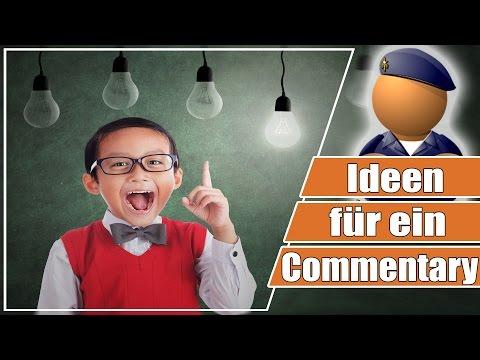 Ideen für ein Commentary - so kommt man auf Themen