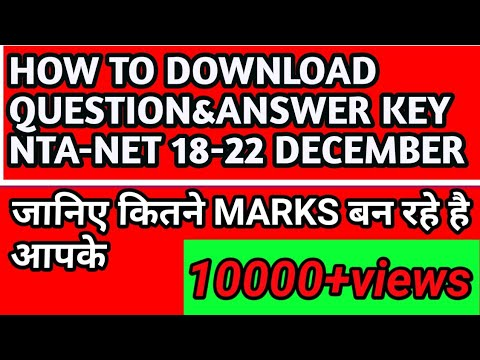 HOW to download NTA-NET QUESTION PAPER AND RESPONSE