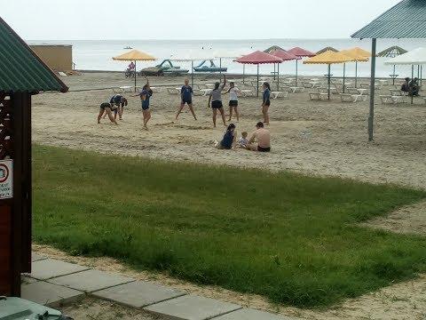 Скадовск, пляж пансионата