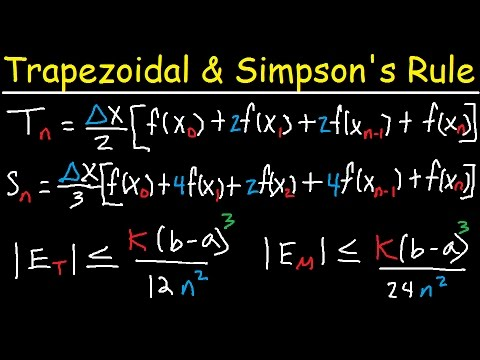 Numerical Integration - Trapezoidal Rule & Simpson's Rule