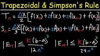Numerical Integration - Trapezoidal Rule & Simpson's Rule