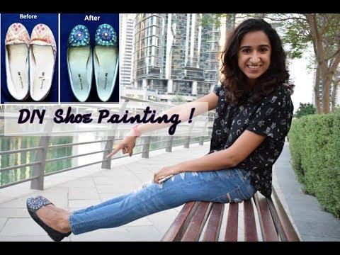 How to paint your shoes| DIY shoe art tutorial | Mandala Art