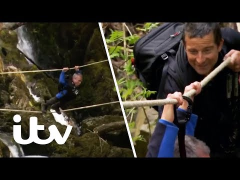 Bear's Mission with Warwick Davis  Warwick Loses Control Crossing a Gorge!  ITV