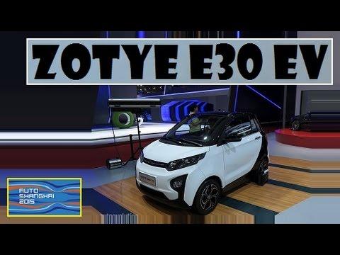 Zotye E30 EV, live photos at Auto Shanghai 2015