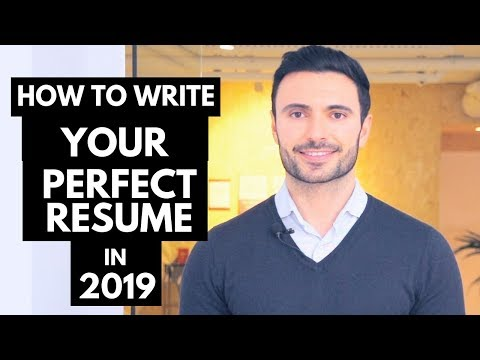 How To Write Your Perfect Resume – Resume Examples and Template 2019