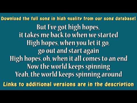 Kodaline - High Hopes (Karaoke) [higher key]