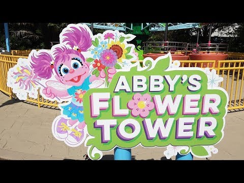 Abby's Flower Tower FULL POV Ride Experience at Sesame Street in SeaWorld Orlando