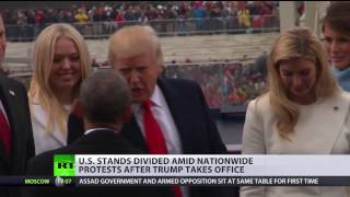 Divided States of America: Citizens opposed each other after Trump took office