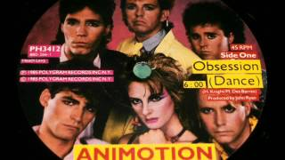 "Animotion - Obsession (Dance) - vinyl 12"" single - Great Don Kirkpatrick Guitar !"