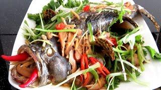 Рыба на Пару с Соевым соусом, Имбирем и Грибами. Вьетнамская и китайская кухня #LudaEasyCook
