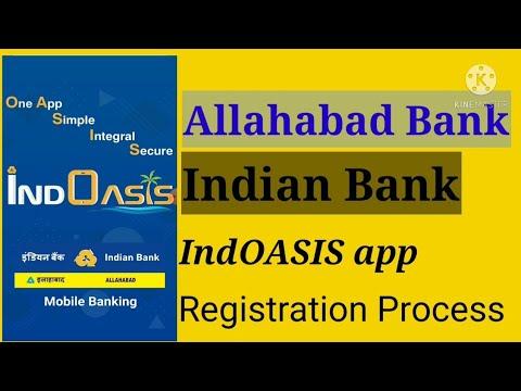 IndOASIS App Registration Process L Allahabad Indian Bank New Mobile Application For Net Banking