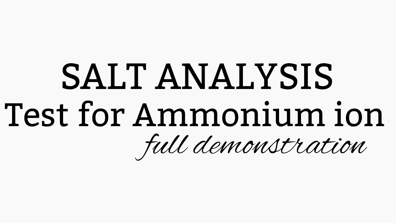 salt analysis Solution chemistry solubility and factors affecting solubility evaporation molarity and % calculations in our chemistry laboratory, a solution is defined as a homogenous mixture of two or more pure substances, with each substance retaining its.