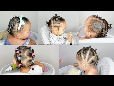 5 TODDLER HAIRSTYLES IN 5 MIN- HAIRSTYLES FOR BABIES WITH CURLS