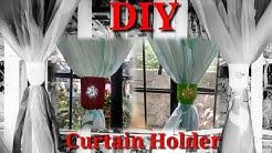 DIY Window Curtain Holder out of empty bottles and used cloth | Recycled