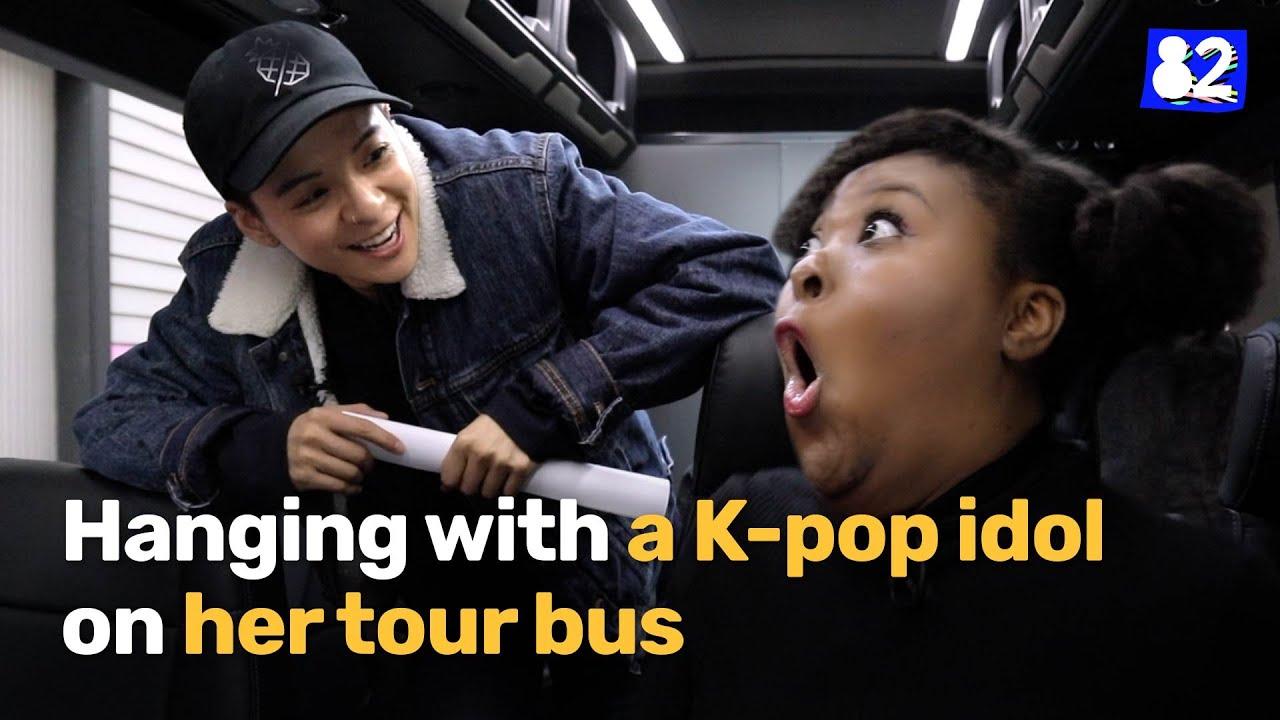 K-pop idol takes me to her tour bus!ㅣ82minutes