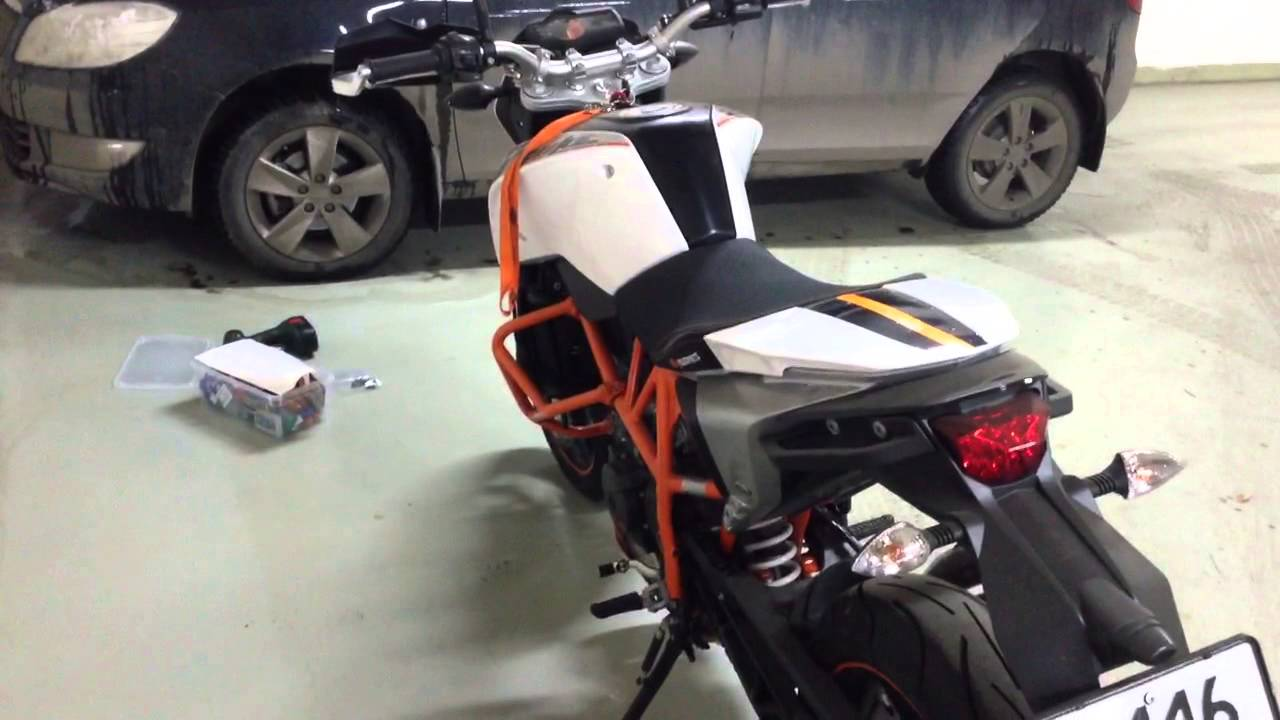KTM DUKE 690 without Puig windscreen