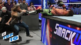WWE Top 10 takes you back to this week's Smackdown Live to revisit the show's most thrilling, physical and controversial moments. GET YOUR 1st MONTH of WWE NETWORK for FREE: http://wwenetwork.com --------------------------------------------------------------------- Follow WWE on YouTube for more exciting action! --------------------------------------------------------------------- Subscribe to WWE on YouTube: http://bit.ly/1i64OdT Check out WWE.com for news and updates: http://goo.gl/akf0J4 Find the latest Superstar gear at WWEShop: http://shop.wwe.com --------------------------------------------- Check out our other channels! --------------------------------------------- The Bella Twins: https://www.youtube.com/thebellatwins UpUpDownDown: https://www.youtube.com/upupdowndown WWEMusic: https://www.youtube.com/wwemusic Total Divas: https://www.youtube.com/wwetotaldivas ------------------------------------ WWE on Social Media ------------------------------------ Twitter: https://twitter.com/wwe Facebook: https://www.facebook.com/wwe Instagram: https://www.instagram.com/wwe/ Reddit: https://www.reddit.com/user/RealWWE Giphy: https://giphy.com/wwe