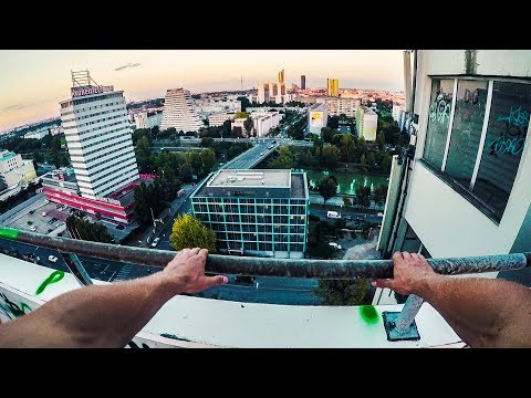 On the Roofs of Vienna: CAUGHT BY POLICE on Abandoned Office Tower! - Urbex Lost Places Austria