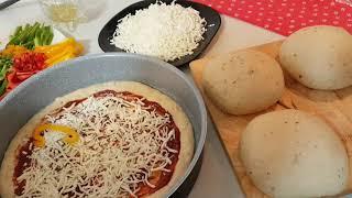 بيتزا🍕بدون بيض، بدون حليب، عالطريقة الإيطالية الأصلية😋😍 PIZZA
