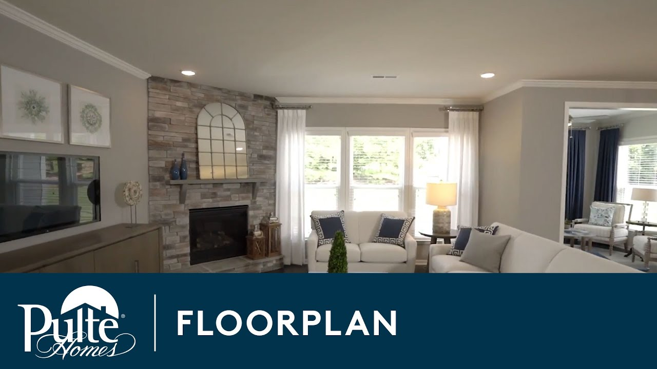 New Homes by Pulte Homes – Northridge Floor Plan - YouTube