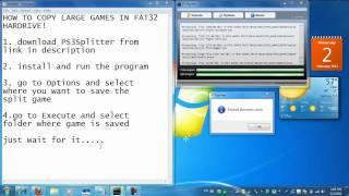 How to copy large PS3 games to a FAT32 Hardrive!