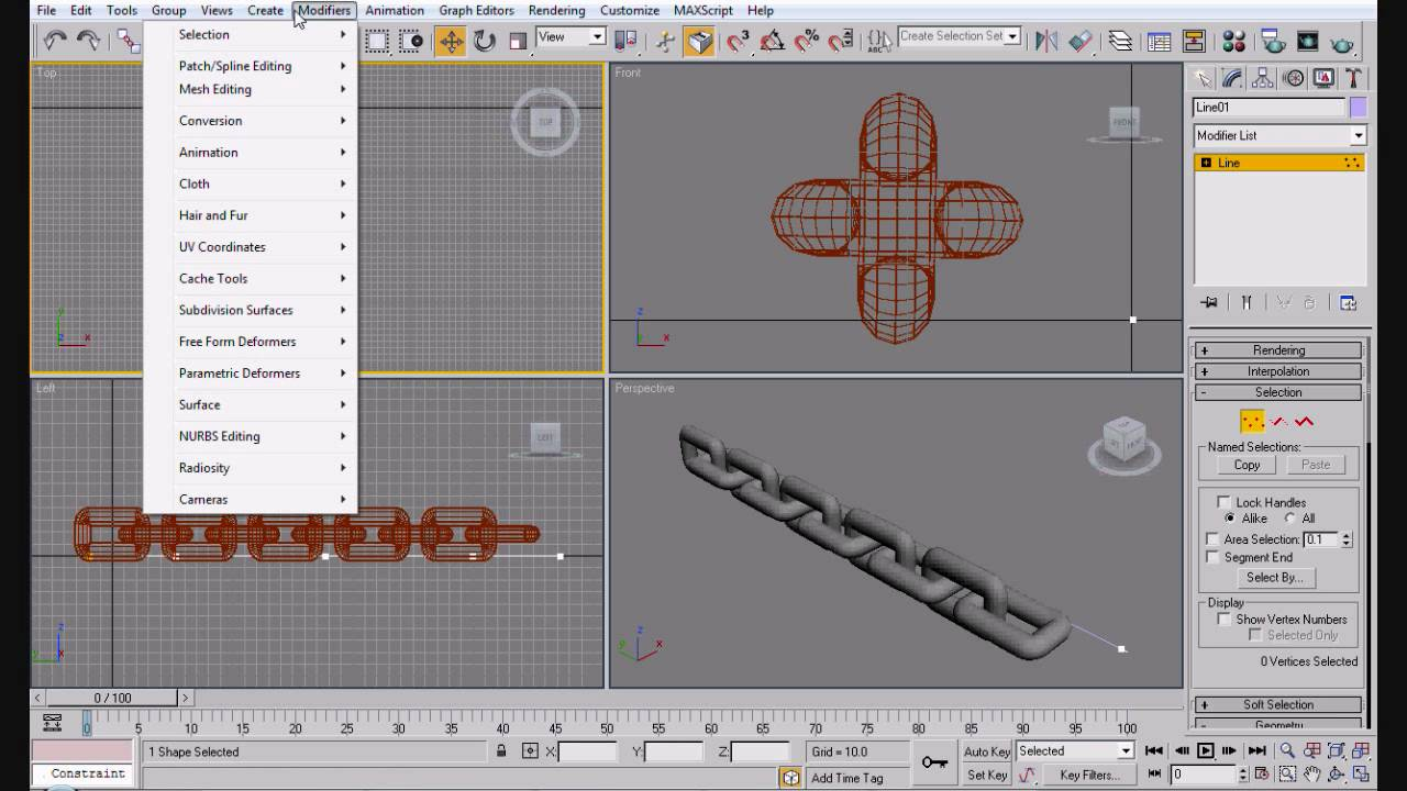 3ds max tutorial - Animating and Rigging a Chain