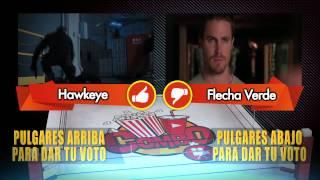 Confrontación.-  Hawkeye vs Flecha Verde