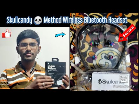 Skullcandy Method Wireless Bluetooth Headset Unboxing & Full review