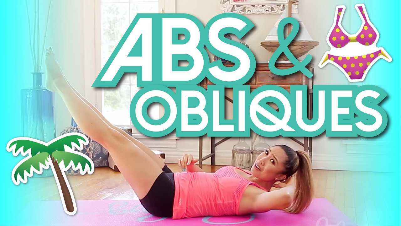 8 Min Abs Obliques Workout Swimsuit Slimdown Series Youtube