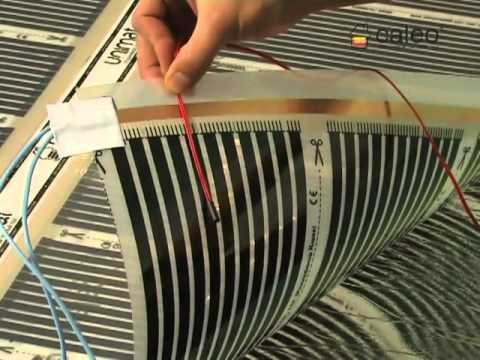 Теплый пол CALEO (Калео) - видеоинструкция по монтажу под линолеум и ковролин