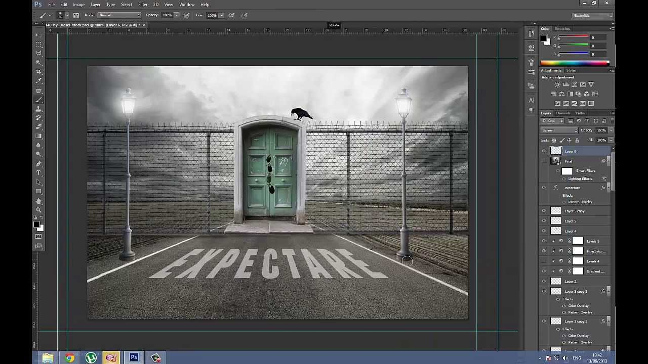& Photoshop - The door . - YouTube