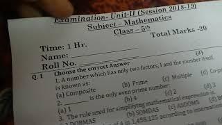 Class 5 maths unit test-2 paper/2018-2019/CBSE