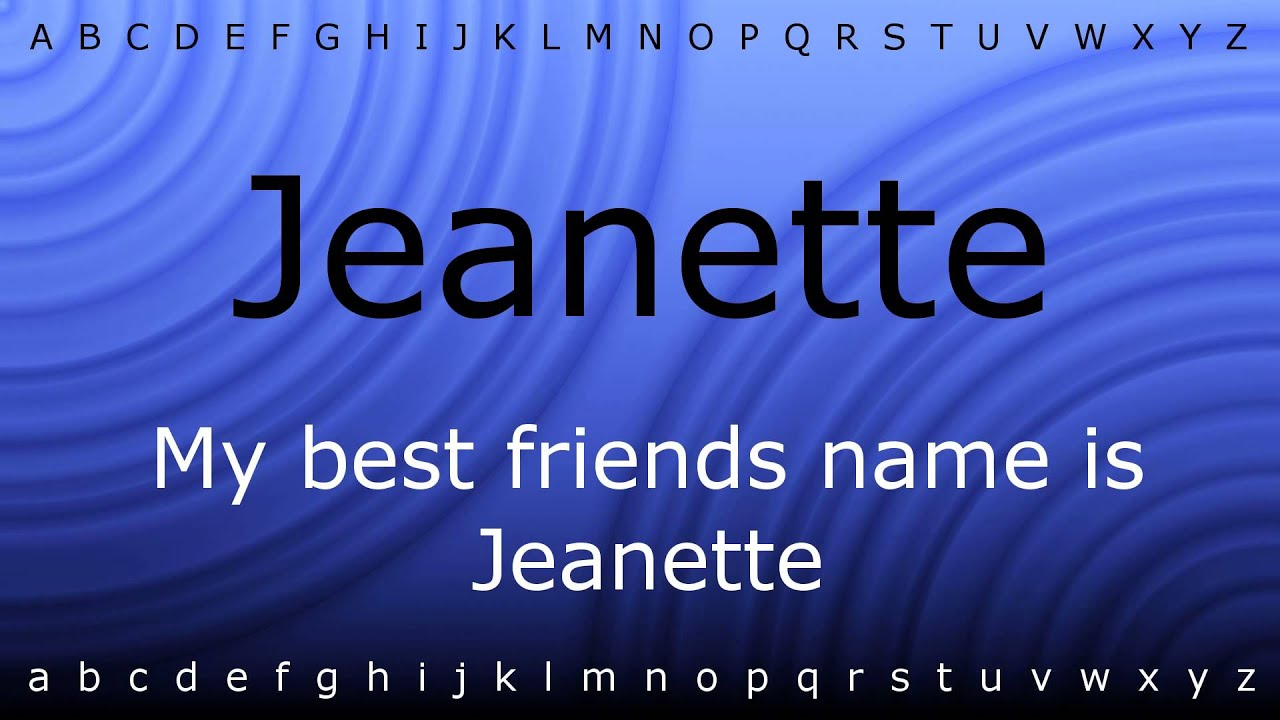 Jeanette Name Meaning