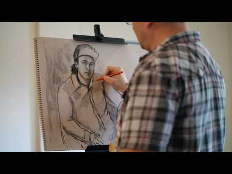 Charcoal Drawing Demo and Interview with David Nudelman