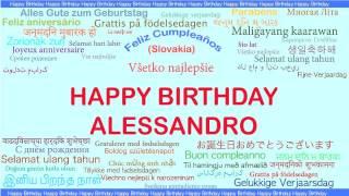 Alessandro   Languages Idiomas - Happy Birthday