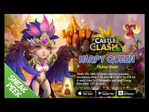 Castle Clash Sneak Peek- The Harpy Queen Hero
