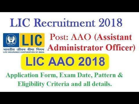 Lic Aao Recruitment Notification 2018 650 Posts Lic Aao 2018