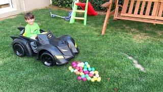 Yusuf Batmobil Akülü Arabasına Binip Su Balonlarını Patlattı😂sonra Scooter Ve Tr
