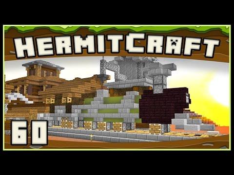 HermitCraft 4 - Minecraft: Awesome Steam Train Design Build