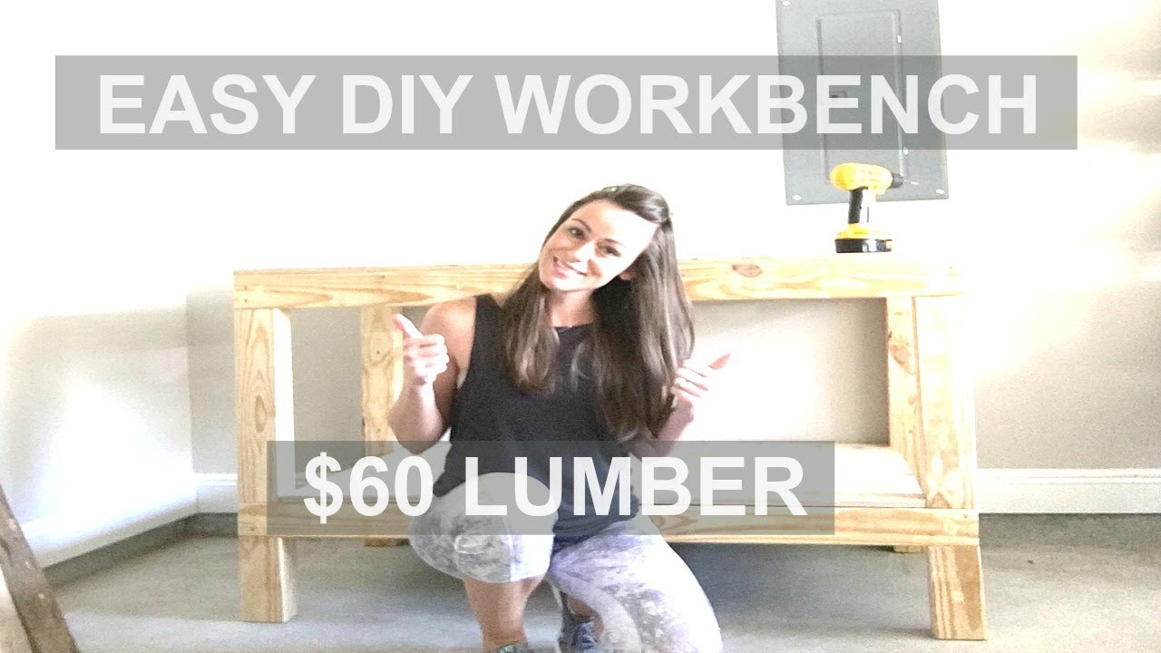 How to Build an Easy Garage Workshop Workbench | $60 Lumber (Ana White)